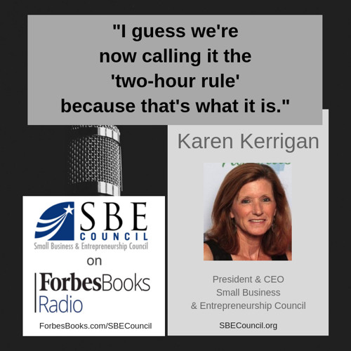 Karen Kerrigan, President/CEO of SBE Council (SBECouncil.org), praises both outgoing SBA Administrator Linda McMahon and nominee US Treasurer Jovita Carranza, and talks about how the backlog of President Trump's appointments has impacted small businesses.