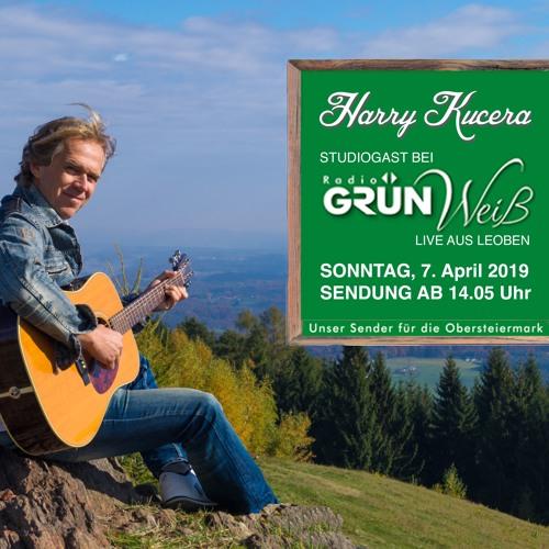 Harry Kucera bei Radio Gruen Weiss 7.4.2019