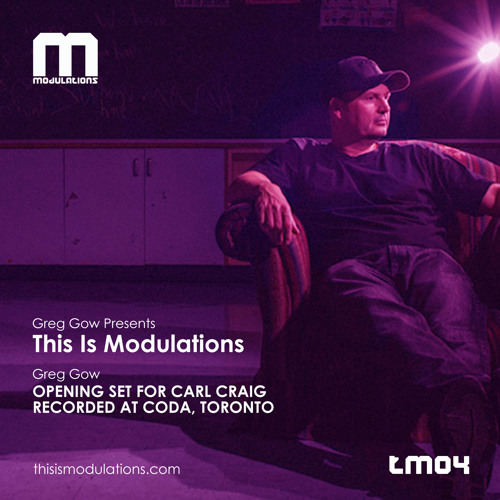 Greg Gow Presents This Is Modulations (TM04) Opening Set For Carl Craig  Recorded (02.02.2019) At Coda, Toronto