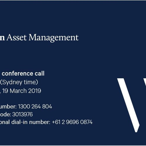 Wilson Asset Investor Conference Call - March 2019
