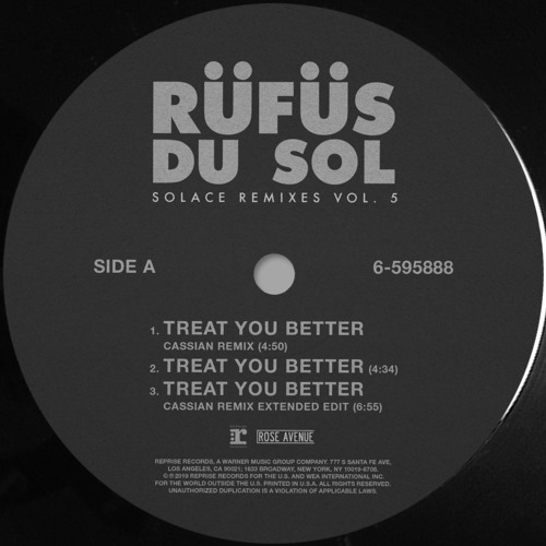 RÜFÜS DU SOL - SOLACE REMIXES Vol. 5