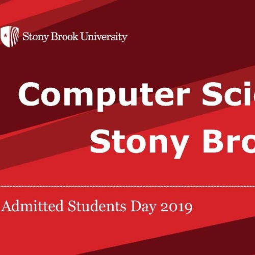 You're admitted to CS at Stony Brook, now what?