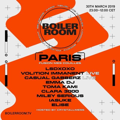 Elise   Boiler Room Paris: Fusion mes Couilles