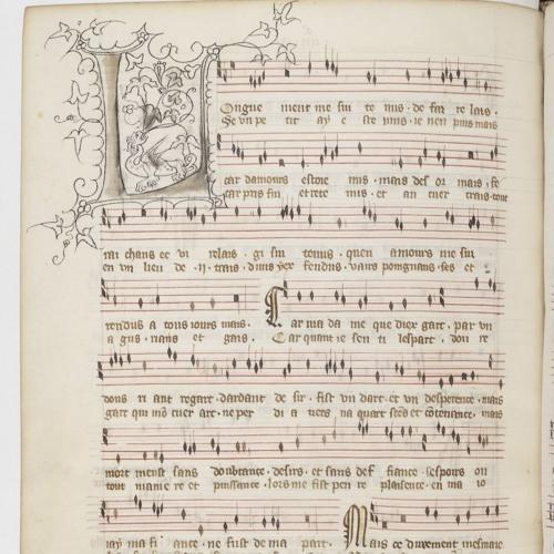 Lai 13 Longuement Guillaume de Machaut uit: Le Livre du Voir Dit