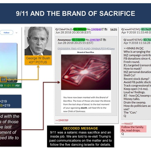Trumps Pinned Tweet Decoded911 Was A Satanic Sacrifice And An Inside Job
