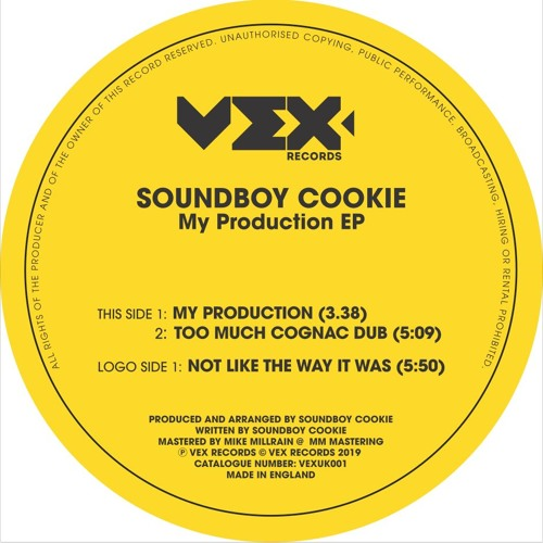 Soundboy Cookie - My Production EP [Limited Vinyl Edition] SAMPLER