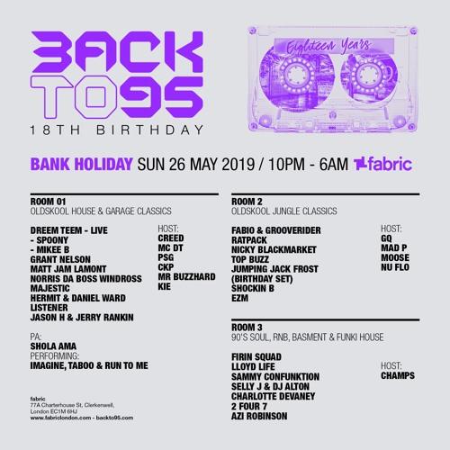 BACKTO95 18TH BIRTHDAY JUNGLE RADIO ADVERT