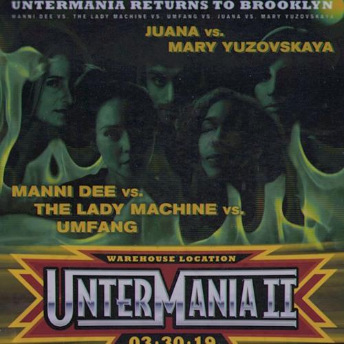 The Lady Machine @ UnterMania, NYC | 31.03.19