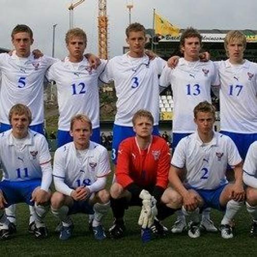 Minniligi U21 sigurin á Russlandi í Gundadali í 2009 (Frá gamla Rás2)