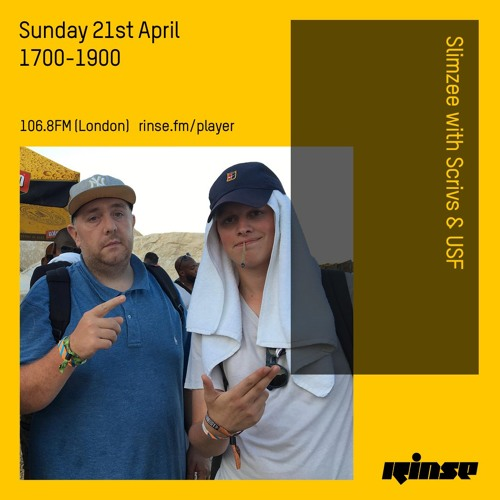 Slimzee with Scrivs & USF - 21st April 2019
