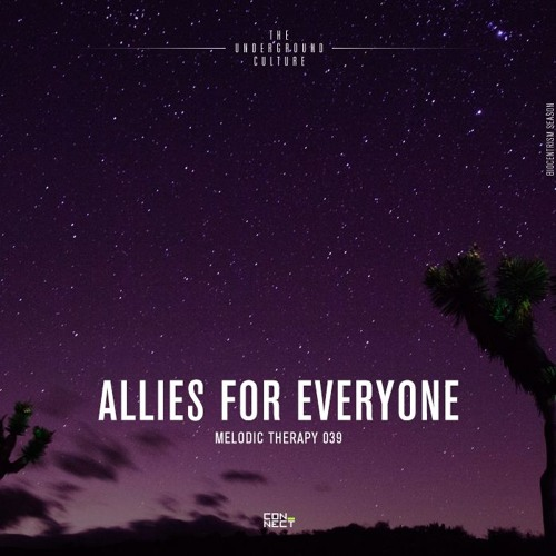 2019.04.26 Allies For Everyone @ Melodic Therapy #039 - United States