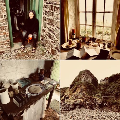 One Minute on Residency at Bucks Mills Artists' Cabin (National Trust N Devon): Aug 18