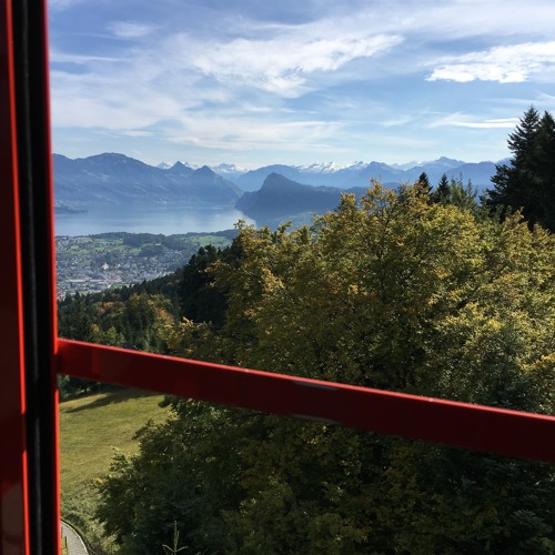 (Less Than) One Minute of Cows Bells Heard from Cable Car (Mount Pilatus): Sept 17