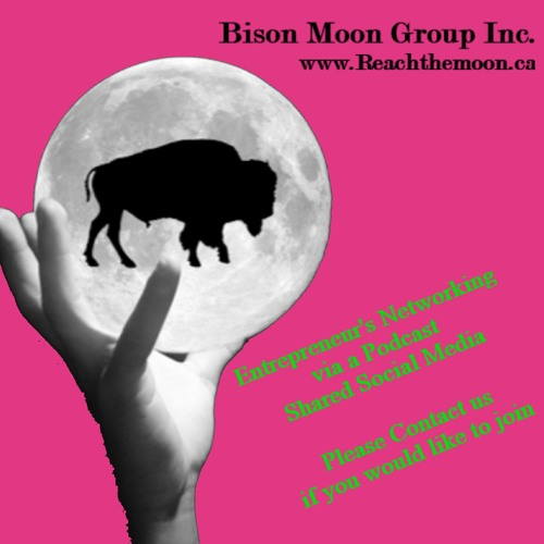 Bison Moon Group - Reach The Moon - Maggie Slater - Industrial Growth Metal Art