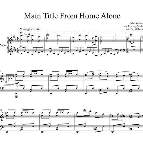 Main Title From Home Alone Piano Solo