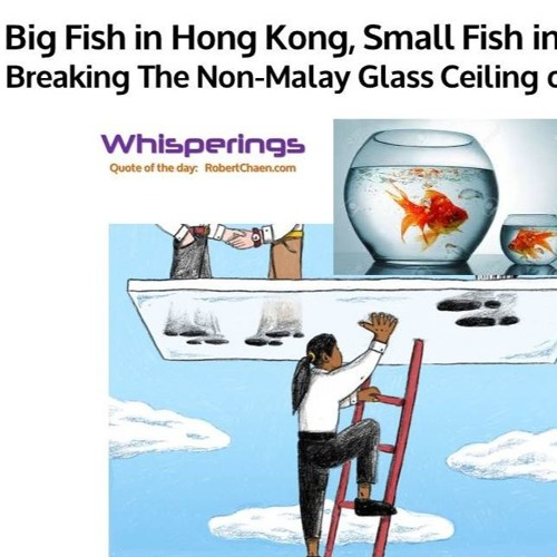 Big Fish In Hong Kong, Small Fish In Malaysia. Breaking The Non-Malay Glass Ceiling