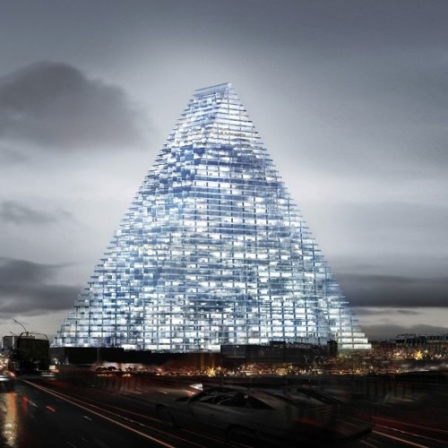 180-M-Tall Triangular Tower For Paris Proper