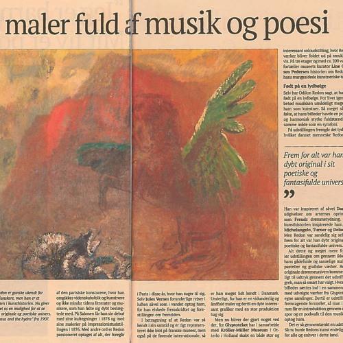 """Lydpor til udstillingen """"Odilon Redon: Into the Dream"""" på Glyptoteket (engelsk)"""