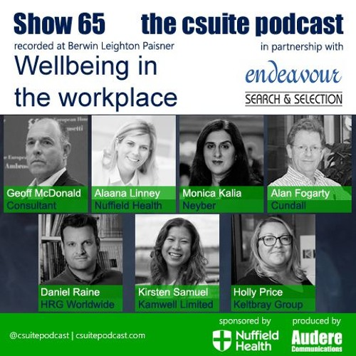 Show 65 - Wellbeing in the Workplace
