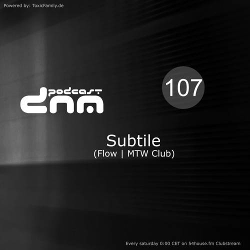 Digital Night Music Podcast 107 mixed by Subtile