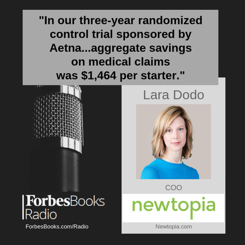 Lara Dodo is COO of Newtopia (Newtopia.com), where they help at-risk employees live healthier lives with a proven program that combines genetics and coaching to produce high adoption and engagement, positive outcomes and significant medical cost savings.