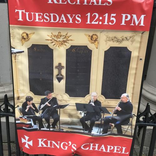 The k a rl h e nn i ng Ensemble at King's Chapel 14 May 2019