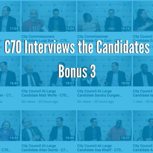 Bonus: City Council At-Large Interviews with Sandra Dungee Glenn, Derek Green, & Asa Khalif
