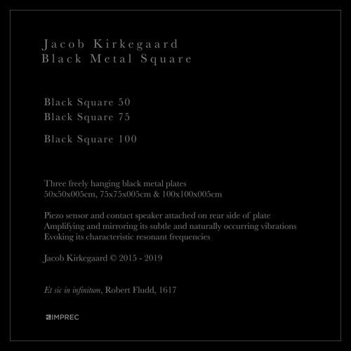 Jacob Kirkegaard - Black Metal Square - LP Edition of 100 - Pre-Order Now