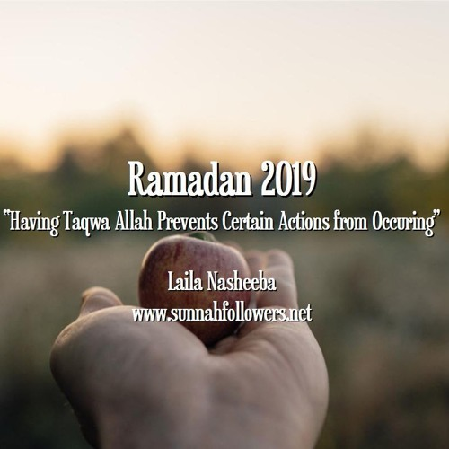 Ramadan - The Righteous Person Avoids these Things!