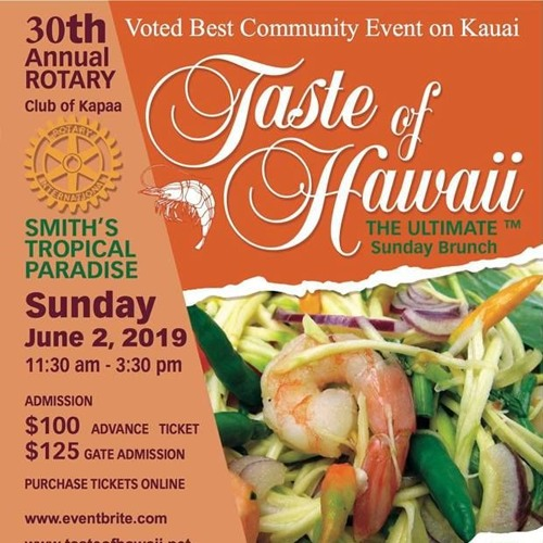 Lucky We Live Kauaʻi - Taste of Hawaiʻi 2019