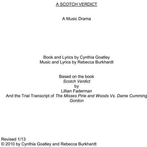 A Scotch Verdict Excerpts
