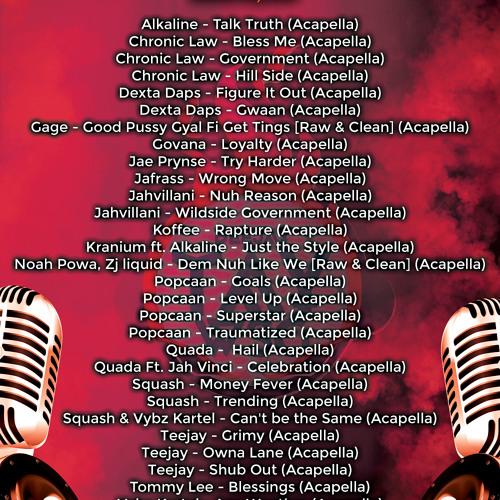 DJ TAY WSG - DANCEHALL ACAPELLA PACK VOL 12 2019 (AUDIO PRV) by Dj