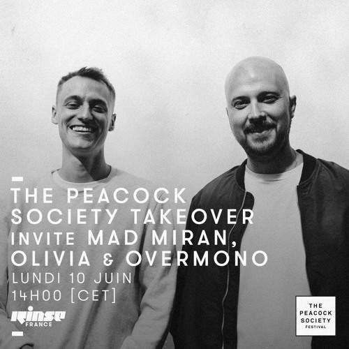 #RadioPeacock sur Rinse France TAKE OVER : Overmono Dj Set recorded @ Simple Oxford (10.06.19)