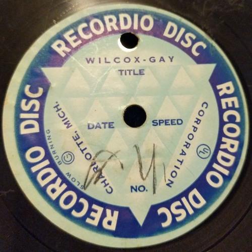 REW and Family: 1940s Recordio Home Recording