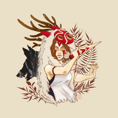 Destiny of the Forest Kingdom / Princess Mononoke Lo-fi by emowafs