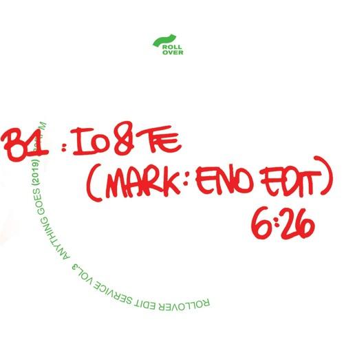 B1. Io E Te (Markeno Edit)[Anything Goes]
