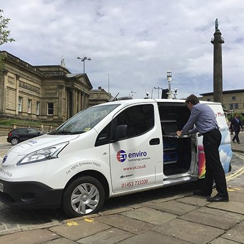 The Smogmobile measures AQ for Liverpool City Council on Clean Air Day