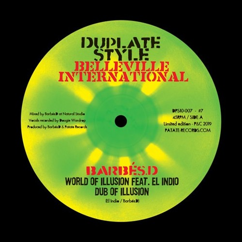 "Barbés.D Dubplate Style 10"" feat El Indio & Fred Buram  / Belleville International"