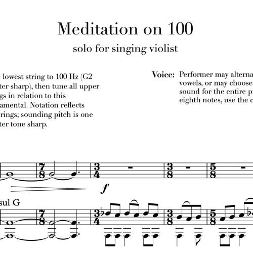 Meditation on 100