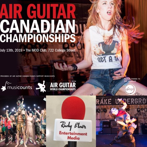 Chat w Genevieve LeBlanc aka The Phoenix on 2019 Air Guitar Canada Championship