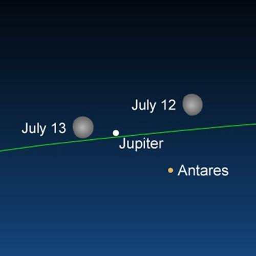 7/8/19 - The Moon Meets Jupiter