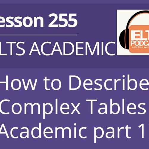 How to Describe Complex Tables (Academic part 1)