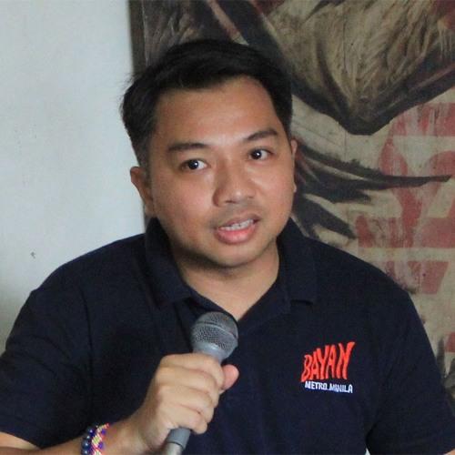 Raymond Palatino, BAYAN Metro Manila Chairperson