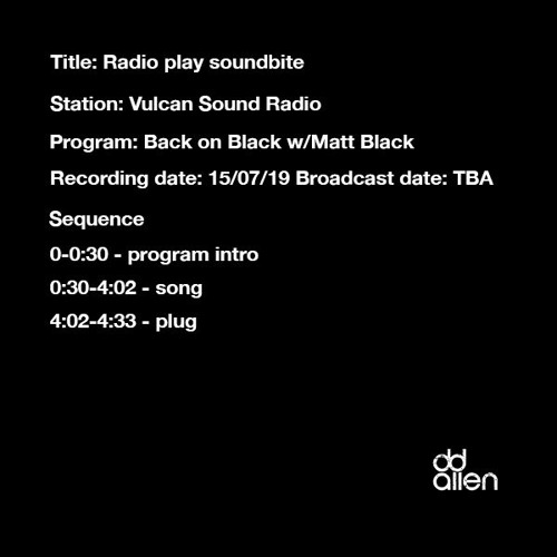 Vulcan Sound Radio (Just a Little More spin and plug)