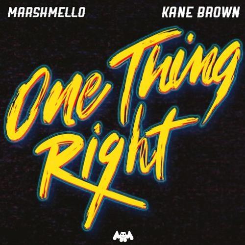 Marshmello & Kane Brown - One Thing Right (Audio)