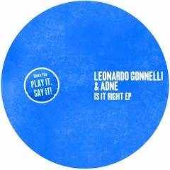 Leonardo Gonnelli & Adne - Is It Right