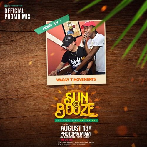 SUN & BOOZE PROMO MIX BY WAGGY TEE MOVEMENTS