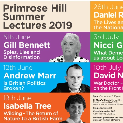 Primrose Hill Summer Lectures 2019