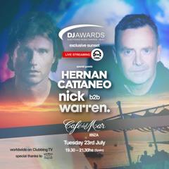 DJ Awards Exclusive Sunset 2019 - Hernan Cattaneo b2b Nick Warren live @ Cafe del Mar