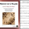 """""""Minuet in G Major"""" by Petzold arranged for Level 3 Piano by Mizue Murakami"""